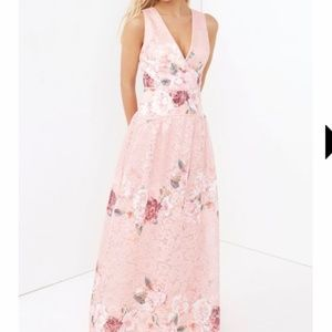 Little Mistress Pink Floral Gown